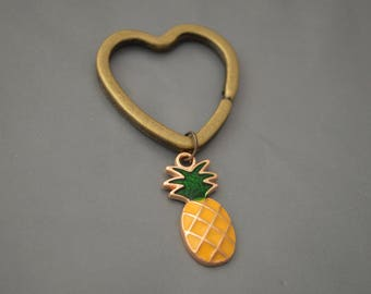 Pineapple Keychain,Pineapple Jewellery, Custom Keychain, Pineapple Pendant, Fruit Keychain, Fruit Charms, Best Friend Gift, Friend Keychain