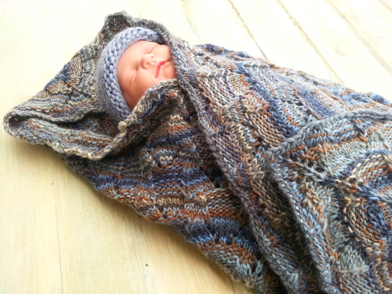 KNITTING PATTERN, Baby Afghan Pattern, Baby Blanket Pattern, Square ...