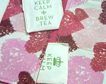 Tea Bag Wallet, HEARTS of LOVE, Four Pockets, Handmade, FREE Shipping USa, Holds Tea & Sweetener - Also Travel Jewelry Wallet