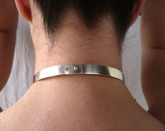 sterling silver slave collar O