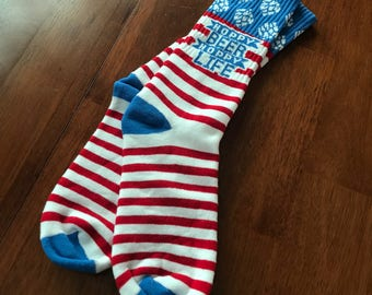 The Original American Hops RWB Beer Socks