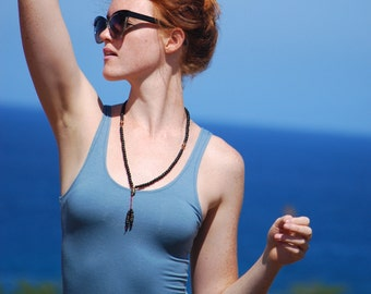 Yoga Layering Tank Top for Women - Eco Friendly - Fitted - Extra Long - Tunic Length - Organic Clothing