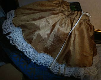 Bjd SD Bronze and Lace Skirt