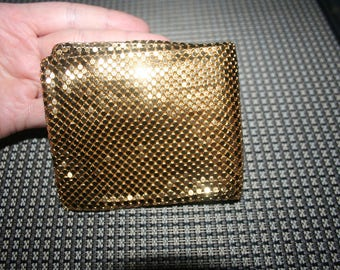 SALE...Vintage Gold gold mesh  sparkly shiny wallet /purse - so awesome , so cute