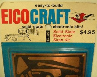 Vintage 1967 EICOCRAFT facile à construire Solid State sirène électronique Kit, RARE