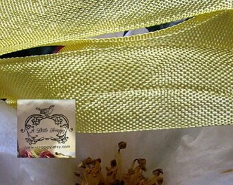Rayon Seam Binding Ribbon Mimosa Yellow Vintage Style