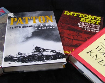George Patton Book Collection Library, Four Great Books All Patton's Life As A General In WWII, Vintage Book Set 4