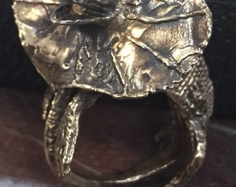 Lizard Ring, reptile ring, jurassic ring