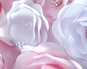 Wedding Decoration Ideas - Big Paper Flowers - Wedding Decor - Bridal Shower Decor - Home Decor