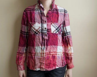 Ombre Flannel Top