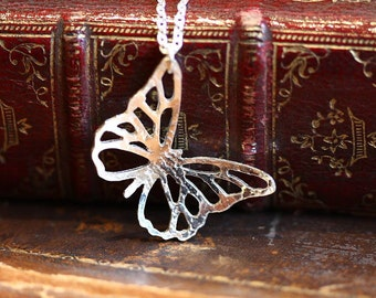 Handmade Small Silver Butterfly Pendant