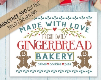 Gingerbread Bakery svg Christmas decor svg Christmas svg Holiday decor svg Holiday svg Silhouette svg Cricut svg eps dxf Farmhouse decor svg