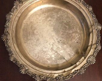 """Silver plated 12"""" platter"""