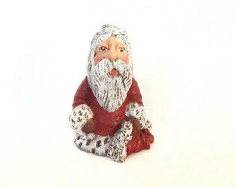 "1 1/2"" Mini Santa, Hand Painted Santa, Resin Santa, Santa Claus, Christmas Santa Claus, Santa, Small Santa, Christmas, New York Treasures"