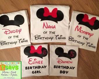 Disney Birthday Family shirts, Disney family shirts, Disney family trip, Disney family vacation, Personalized shirts