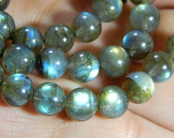 70%OFF Labradorite Smooth Round Beads 100 Percent Natural Gemstone Size 8 mm Approx  - 0322