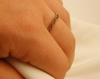 Guitar String Braided Ring (Simple Ring) (Stacking Ring)