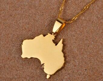 Golden Australia Necklace