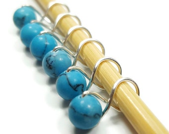 Snag Free Stitch Markers - Turquoise  Infinity - Stitch Markers - Small, Medium, Large or XL