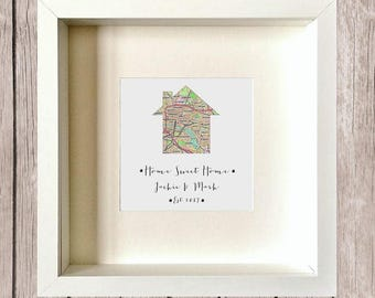 Home Sweet Home/ Our First Home/ New Home Personalised Art/Gift