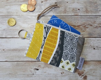 card wallet | coin pouch | ID card | keychain zippered case | earbud pouch | mini wallet | business card holder | chap stick holder