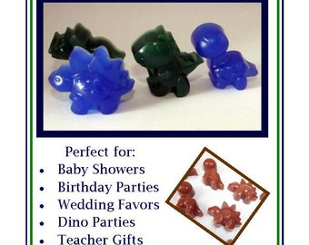 Set of 10 Mini Dinosaur Party Favor, Dino Party Favor, Dinosaur Baby Shower Favors, Bulk Favors, Glycerin Soap Favors, Soap Favor