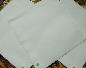 Snow White Cloth Napkins 100% Cotton Soft And Natural