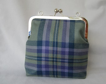Heather Isle Wool Tartan Evening Bag with Black Cotton Lining Made in Scotland