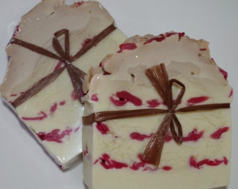 Chocolate & Raspberries in a Handmade Artisan Soap