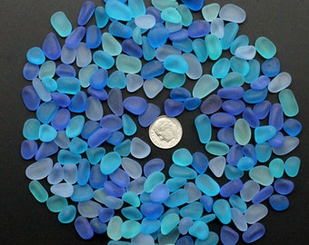 beach sea glass lot bulk wholesale blue cobalt aqua cyan turquoise jewelry use
