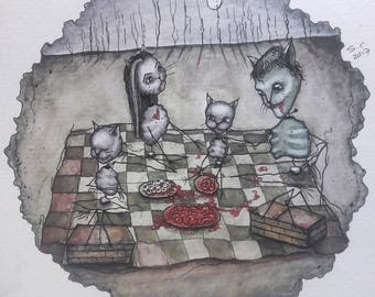 Picnic With the Munster Cats