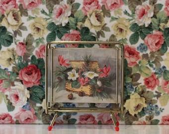 Vintage Letter Rack Atomic Floral Kitsch Windsor Castle