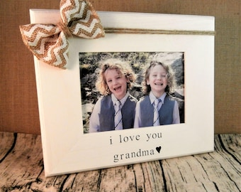 Grandma gift from grandson granddaughter, Mothers day gift for grandma frame 5 x 7
