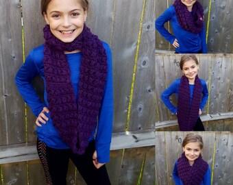 Crochet Kids Chuncky Puff Infinity Scarf - Crochet Wrap - Crochet Circle Scarf - Crochet Cowl -Neck Warmer