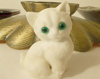 Cute Little White Cat Figurine
