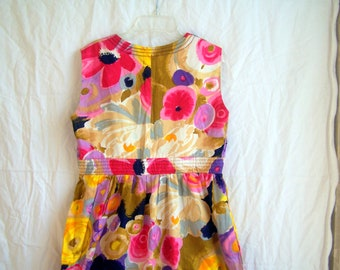 "Alice of California vintage floral dress, 34"" chest, c. 1960s"