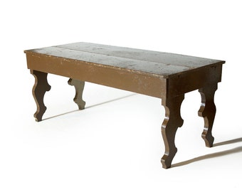 Primitive Painted Rustic Southern Indiana Farm Table