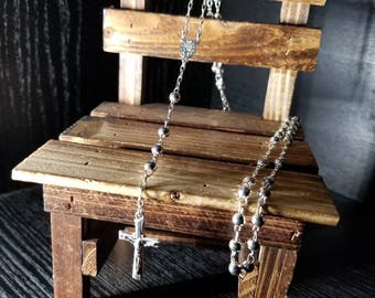 Sterling  silver Holy rosary