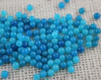 4mm Turquoise Glass Bead (100 Pieces)