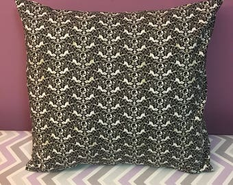 Cats & Skulls 18x18 Decorative Pillow