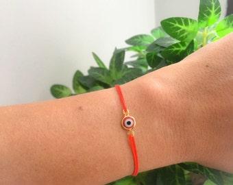 SALE Evil Eye Red Bracelet. Red String Bracelet.Kabbalah Bracelet. Red Bracelet. Red Bracelet Evil Eye, Evil Eye Gold Bracelet, Evil eye,