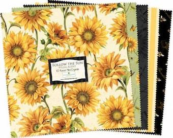 Follow the Sun 10 inch precut squares  Cotton Fabric