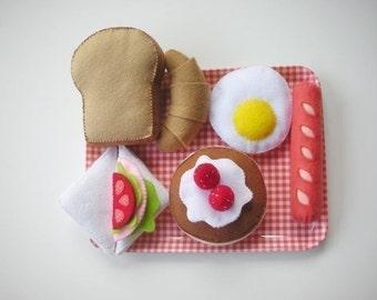 Felt Happy Breakfast Set Pattern Food Sewing PDF