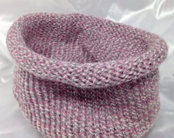 Snood girl size pink, 20% worsted wool