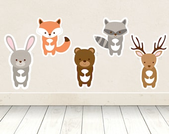 Cute Woodland Animal Cut Outs / Woodland Baby Shower / Woodland Baby Shower Decoration / Forest Animal / Printable INSTANT DOWNLOAD A187