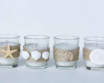 Set of 100 Votive Candles Beach Wedding Seashell Starfish Sand Dollar **FREE SHIPPING**