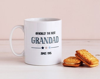 Officially The Best Grandad, Personalised Father's Day Mug