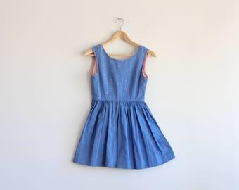 ABI - blue mini dress