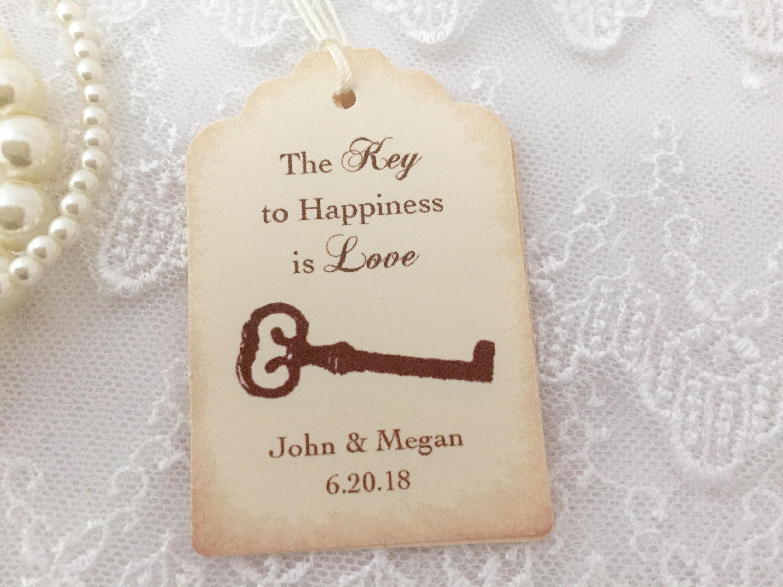 Key Favor Tags Key Wedding Tags Skeleton Key Tags Key to