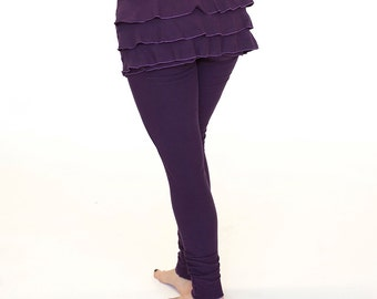 Womens Ruffle Pants Yoga Clothing, Ruched Leggings - RUFFLE BUTT LEGGINGS - festival and dance clothes